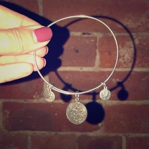 "Alex and Ani Silver ""Aunt"" Bracelet"